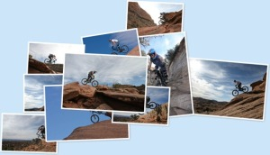 View Mtn Biking in Moab Nov 09
