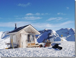 Shack at the Top of the lift at Silverton Mountain