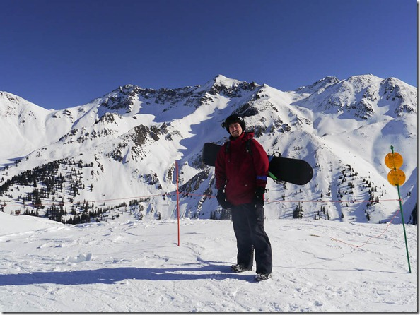Me at the top of the lift at Silverton Mountain