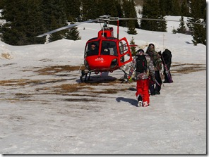 Loading up in the Heli